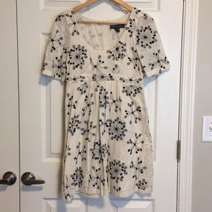French connection embroidered babydoll 100% cotton